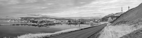 Panorama in bianco e nero di Katav-Ivanovsk fotografia stock libera da diritti