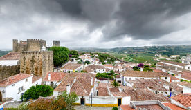 Panorama of Óbidos Royalty Free Stock Photography