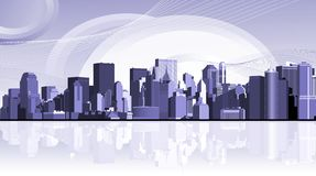 Panorama of the big city. Royalty Free Stock Image
