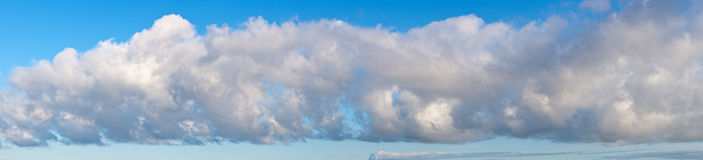 Panorama of a big cumulus cloud Stock Image