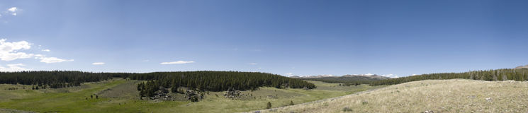 Panorama of Big Horn Royalty Free Stock Images