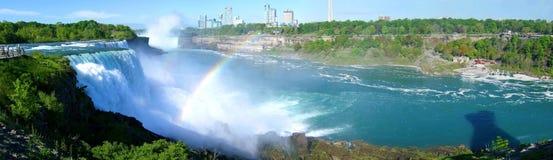 Panorama bij dalingen Niagara Stock Afbeelding
