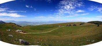 Panorama bij de Franse Alpes-herfst royalty-vrije stock afbeeldingen