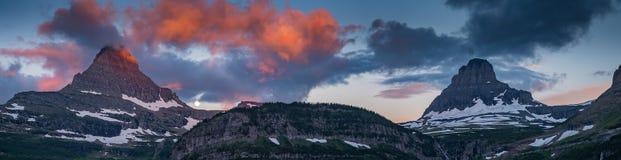 Panorama bij Gletsjer Nationaal Park Stock Afbeelding