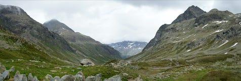 Panorama bij Pas Julier in Zwitserland Stock Afbeelding