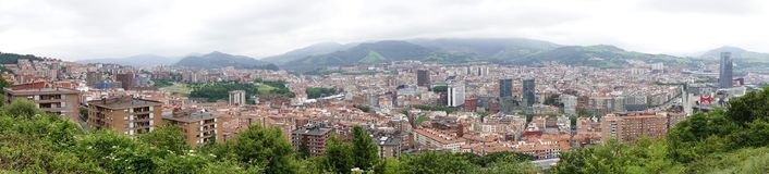 Bilbao panoramic views. stock images