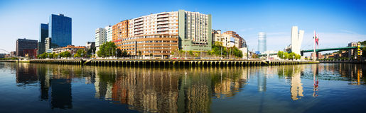 Panorama of Bilbao Stock Photography