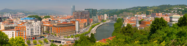 Panorama of Bilbao Royalty Free Stock Photography