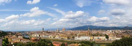 Panorama- bild av Florence, Italien Royaltyfria Bilder