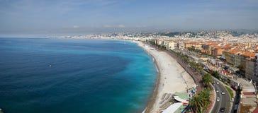 Panorama- bild av Nice, Frankrike Royaltyfri Foto