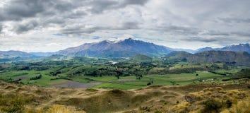 Panorama- bild av sydliga Nya Zeeland Fotografering för Bildbyråer