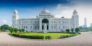 Panorama- bild av Victoria Memorial, Kolkata royaltyfri bild