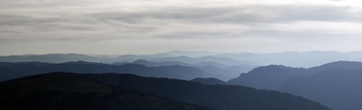 panorama- bild för höga berg royaltyfri foto