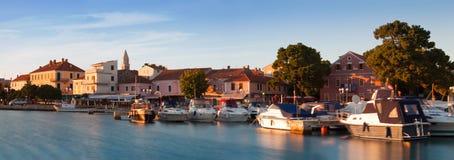Panorama of Biograd na Moru at sunset, Croatia Stock Image