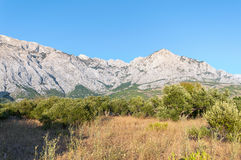 Panorama of Biokovo Mountains in Croatia. Stock Photos
