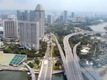 Singapore. Panorama of the Asian metropolis from the height of the TV tower. stock photo
