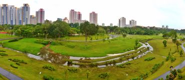 Panorama of Bishan-Ang Mo Kio Park, Singapore Stock Images