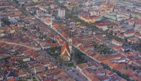 Panorama Bistrita, Rumunia, Europa Obraz Royalty Free