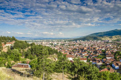 Panorama of Bitola, Macedonia. Taken from North part of the city, towards east Stock Images