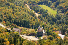 Panorama of Bjelopavlici plain from Ostrog Monastery, Montenegro Stock Photo