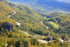 Panorama of Bjelopavlici plain from Ostrog Monastery, Montenegro Royalty Free Stock Photo