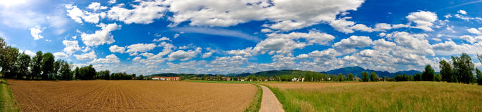 Panorama from black forest Stock Photo