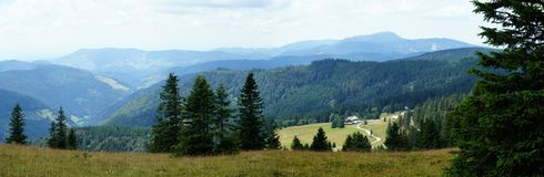 Panorama of the Black Forest Royalty Free Stock Images