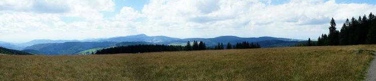 Panorama of the Black Forest Stock Photos