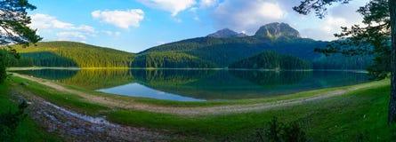 Panorama of the Black Lake, Durmitor Stock Photo