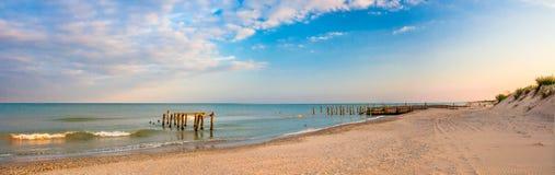 Panorama of Black Sea coastline Stock Images