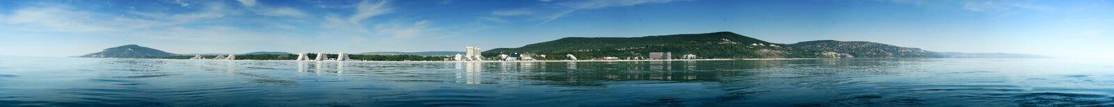 Panorama black sea resort landscape Stock Image