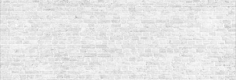 Panorama blanco de la pared de ladrillo del lavado fotos de archivo libres de regalías