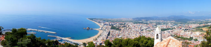 Panorama of Blanes. Costa Brava, Spain Stock Photo