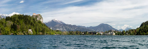 Panorama of Bled Lake Stock Image