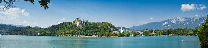 Panorama of bled Stock Photography