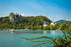 Panorama of bled Royalty Free Stock Photo