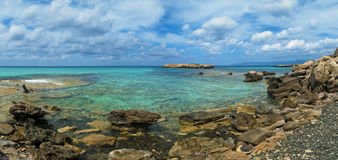 Panorama blu della laguna Fotografia Stock Libera da Diritti