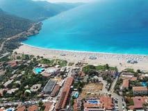Panorama of blue lagoon and beach oludeniz turkey Royalty Free Stock Image
