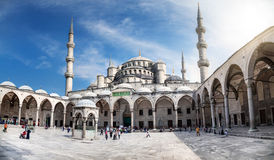 Panorama of Blue Mosque in Istanbul Stock Photography