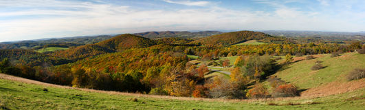 Panorama Blue Ridge Parkway in the Fall Royalty Free Stock Photo
