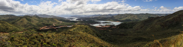Panorama of the blue river provincial park, south of Grande Terre, New Caledonia Royalty Free Stock Photos