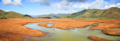 Panorama on the Blue River Provincial Park, South Province,Grande Terre, New Caledonia. Royalty Free Stock Image