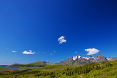 Panorama with blue sky Royalty Free Stock Images