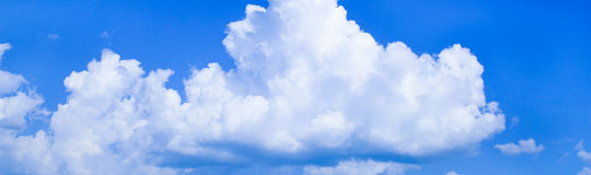Panorama blue sky with clouds for background Stock Images