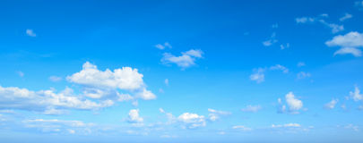 Panorama blue sky with clouds Royalty Free Stock Image