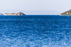 Panorma on the blue turkish aegean sea Royalty Free Stock Photography