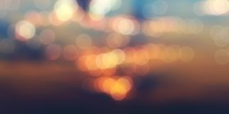Bokeh blurred abstract background panorama royalty free stock image
