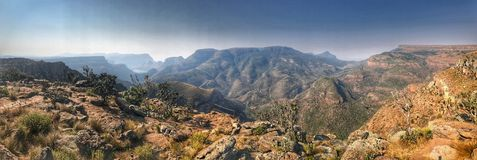 Panorama of the Blyde River Canyon royalty free stock images