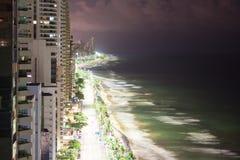 Panorama boa Viagem nocą obraz stock