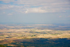 Panorama of the board of Puglia. From Monte Cornacchia Royalty Free Stock Photography